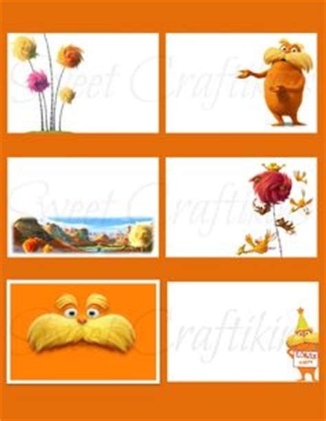 free printable lorax bookmarks dr seuss on pinterest dr seuss truffula trees and