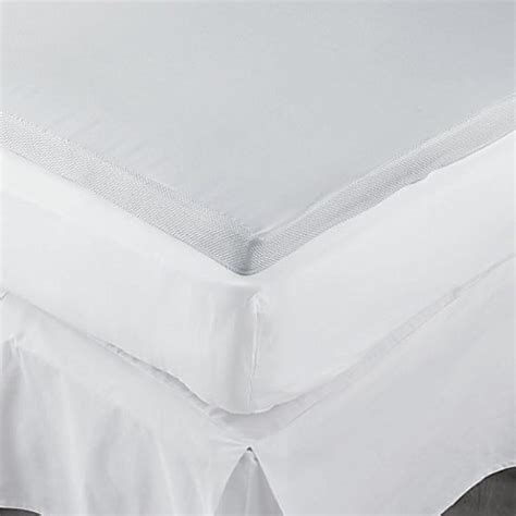 bed bath and beyond mattress topper therapedic 174 2 inch memory foam mattress topper bed bath