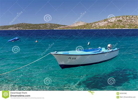 floating boat images floating boat on crystal sea editorial image image of