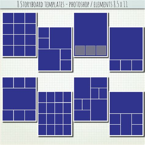 digital templates for photoshop items similar to 8 5x11 8 x psd storyboard photographer