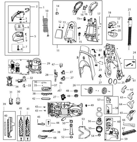bissell proheat parts diagram bissell 66q4 73a5 9500 proheat 2x cleanshot healthy home
