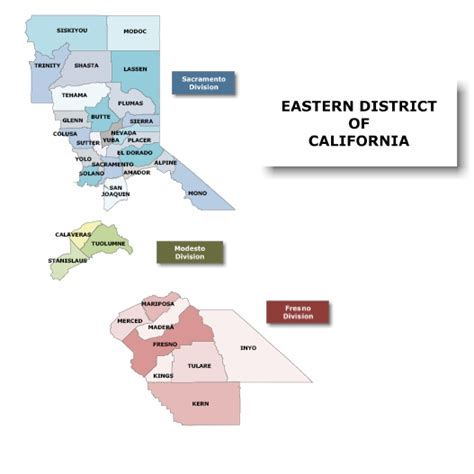 Bankruptcy Search California District Map