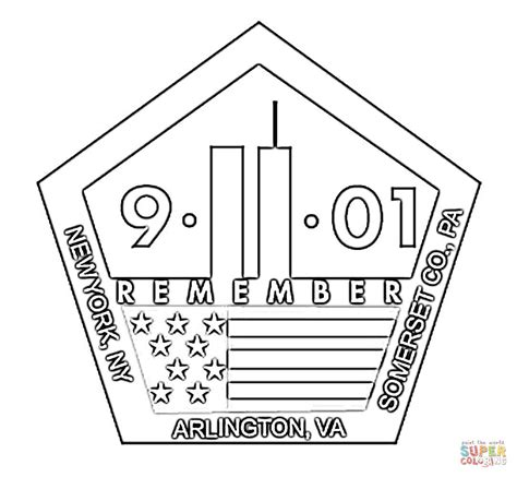 Coloring Page For 9 11 by Patriot Day Coloring Pages Bestofcoloring