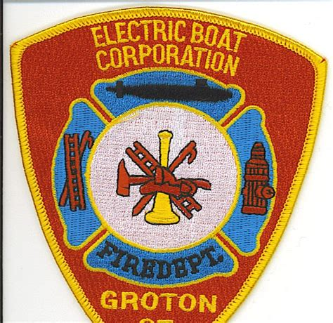electric boat fire department patch department electric boat fire department groton ct