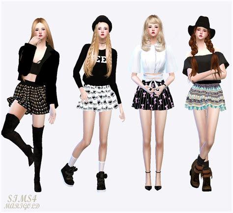 Dress Arina Koreanstyle mods ts4 korean style ค ดจากเว บด ๆ มาด ก น