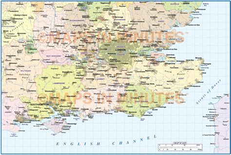 printable road map of southern england digital vector england map south east basic in illustrator
