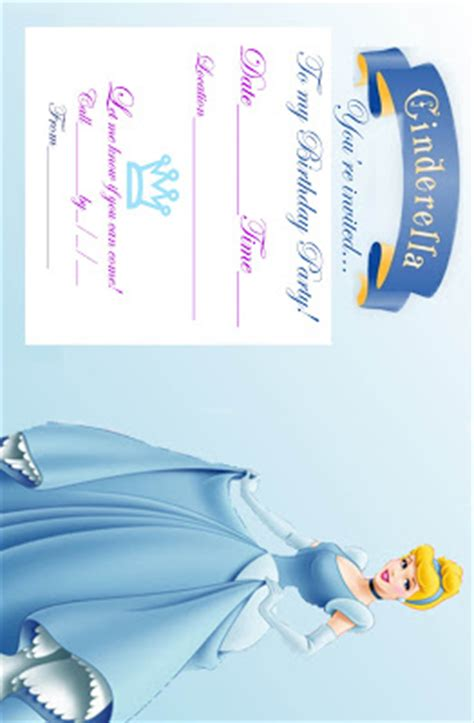 free cinderella printable party decorations princess coloring pages