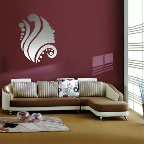 decals for home decorating 3d diy silver mirror removable wall stickers home room