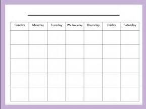 Blank One Month Calendar Template by The Connected Technology As A Tool