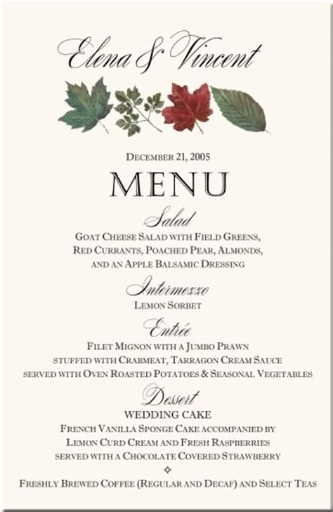 dinner menu card template winter theme wedding menu cards snowflake wedding menu
