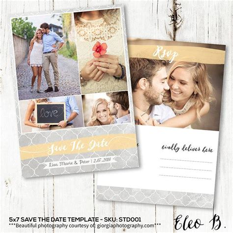 Wedding Invitation Postcard Templates by 5x7 Save The Date Postcard Template Engagement