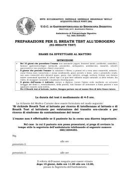 preparazione test lattosio preparazione per gli esami breath test