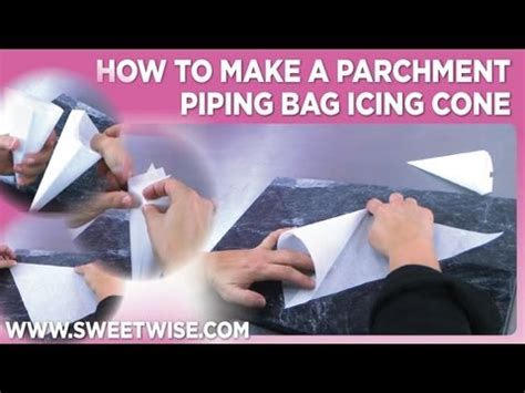 How To Make A Piping Bag Out Of Paper - how to make a parchment piping bag icing cone