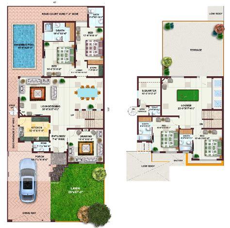 Pakistan House Designs Floor Plans Pakistan 1 Kanal House Plans L 8df000ab22e8c1e5 Jpg 1000 215 993 House Plans