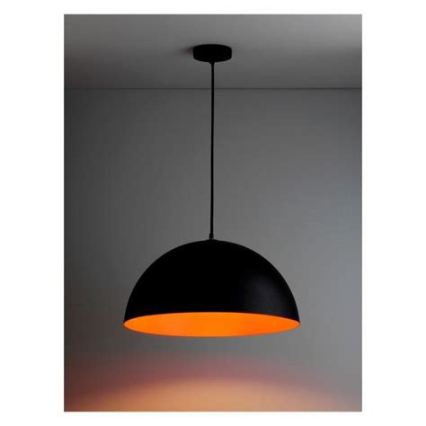 samuel black and fluorescent orange metal ceiling light