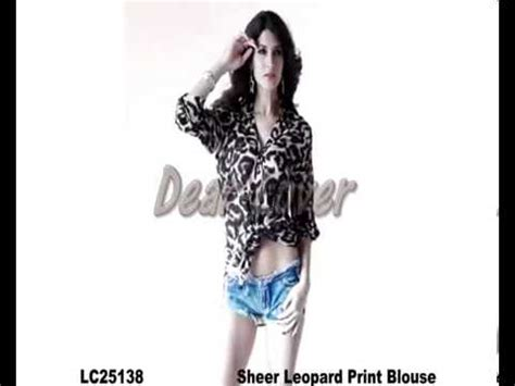 Leccy Top Blouse Hq 1 clubwear top sheer leopard print blouse wholesale on lover clothes