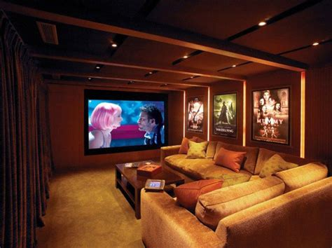 home theatre decorating ideas small modern home theater ideas