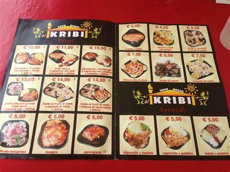 menu tavola calda carte menu 1 foto di kribi tavola calda torre lapillo