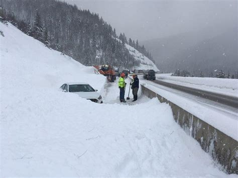 westbound lanes open  closing  avalanche