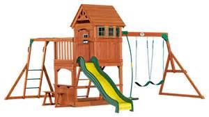 Backyard Discovery Montpelier Cedar Wooden Swing Set by Backyard Discovery Montpelier All Cedar Wood Playset