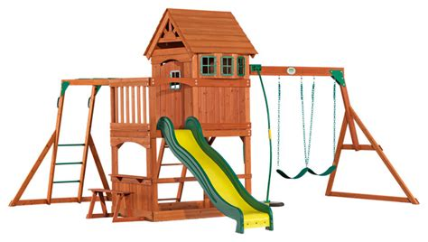Backyard Discovery Montpelier Swing Set Backyard Discovery Montpelier All Cedar Wood Playset