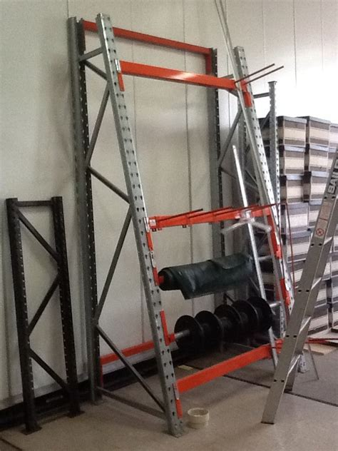 Pallet Rack Vertical Dividers by Half A Frame For Cable Reels Or Item Vertical Storage