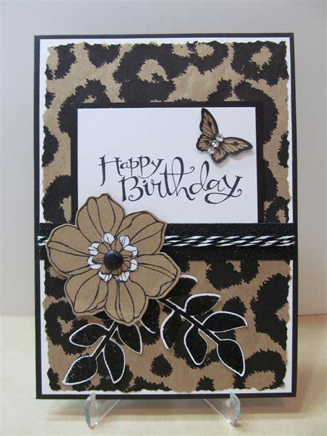 Handmade Prints - savvy handmade cards leopard happy birthday card