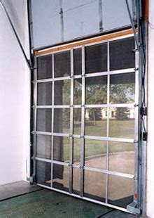 door fans to keep bugs out bug screen doors loading dock warehouse screen doors