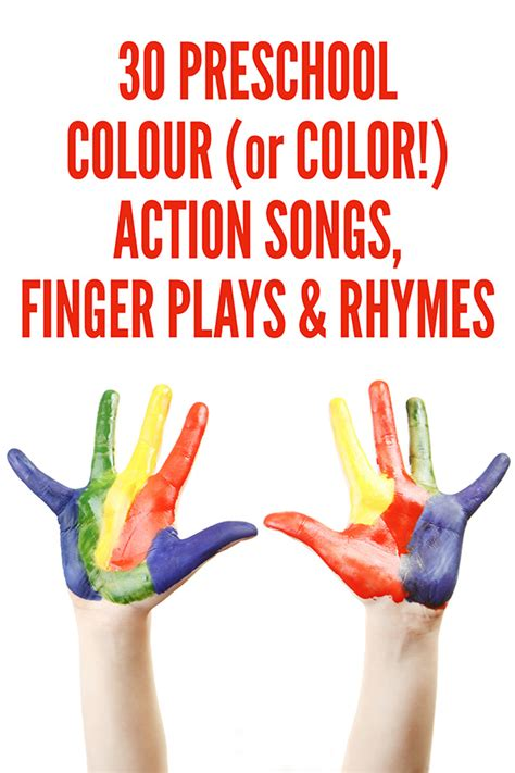 rhymes with color 30 preschool color songs finger plays rhymes
