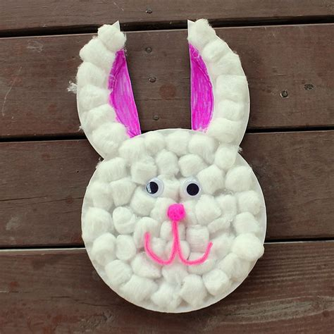 Paper Plate Easter Crafts - easter craft paper plate bunny kid network