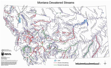 map of rivers in montana dewatered streams of montana