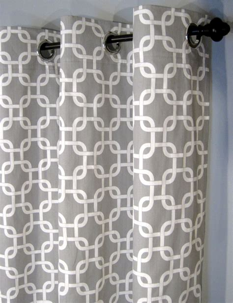 White Grey Curtains Grey And White Gotcha Curtains With Grommets Two Curtain