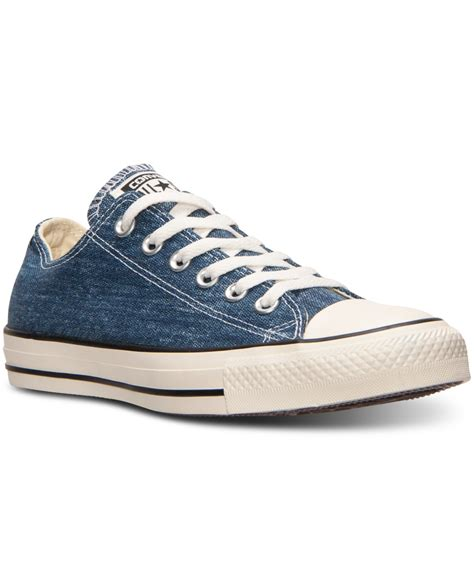 Sneakers Denim converse s chuck ox denim casual sneakers from finish line in blue for lyst