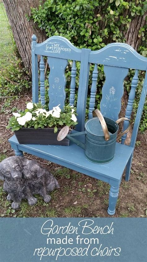 bench made from 2 chairs project ideas for old chairs my repurposed life