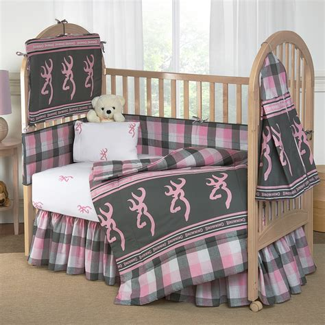 browning bed set browning buckmark plaid crib bedding collection