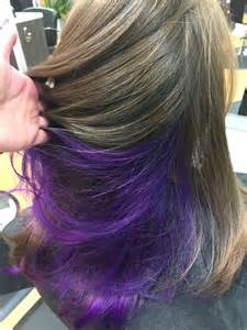 lowlighting the hair under the top layer 25 great ideas about purple highlights underneath on