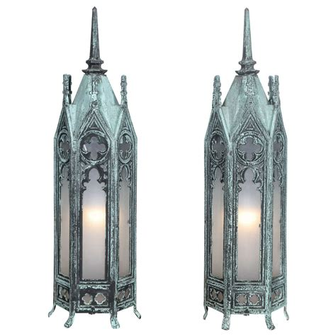 Glass Candle Wall Sconces Bronze Gothic Lamps At 1stdibs