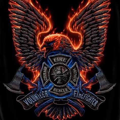 volunteer firefighter courage emblem t shirt