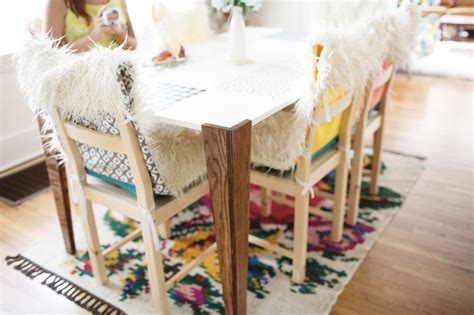 fur dining chair covers diy faux fur chair covers and cushions a beautiful mess