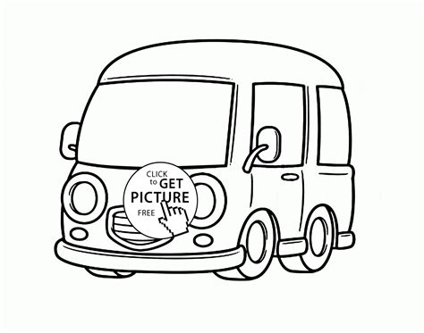 cute car coloring pages pin van colouring pages on pinterest