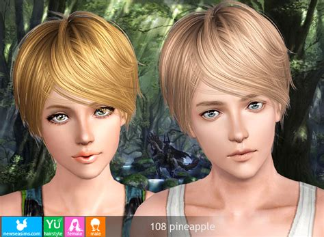 sims 3 pixie hair pixie crop hairstyle 108 pineapple by newsea for sims 3