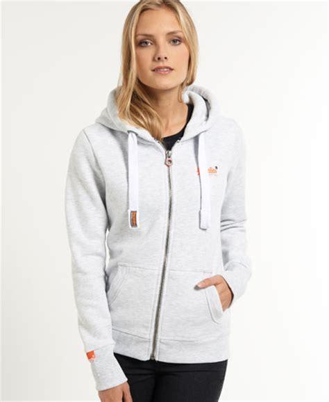 New Jaket Sweater Polos Hoodie Zipper Orange Oren womens orange label zip hoodie in marl superdry