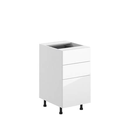 3 drawer base cabinet white eurostyle 18x34 5x24 5 in valencia 3 drawer base cabinet