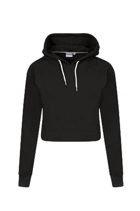 Hoodie Crop Polos Fleece Wanita Size M womens pullover fleece plain cropped top crop hoody