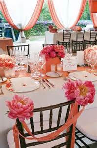 coral colored table ls coral wedding theme ideas weddings by lilly