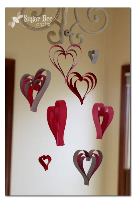 Craft With Paper Strips - paper hearts sugar bee crafts