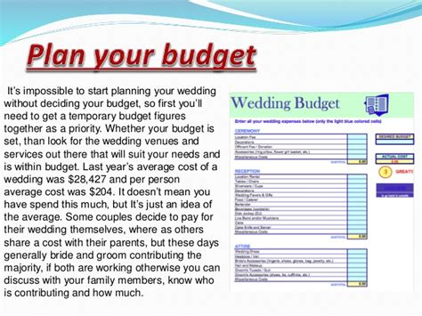 How To Plan A Wedding by Steps To Plan A Wedding Event