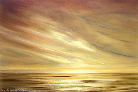 another golden sunset painting by de gorna