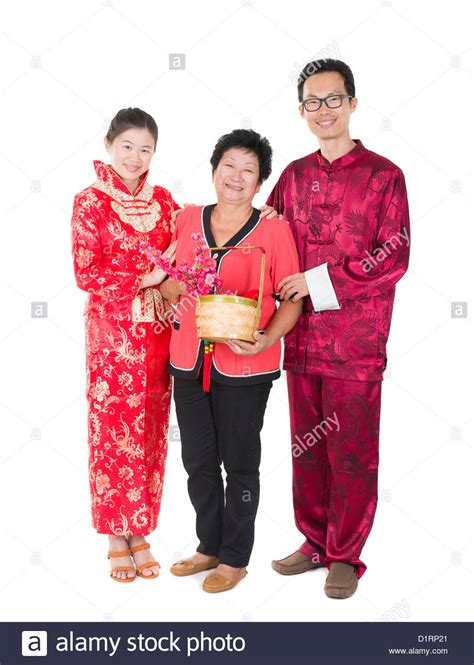 new year ang pow tradition new year family with ang pow symbol of luck stock