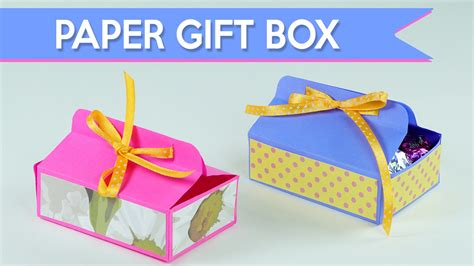 Make A Box Out Of A4 Paper - easy diy gift box how to make a paper gift box